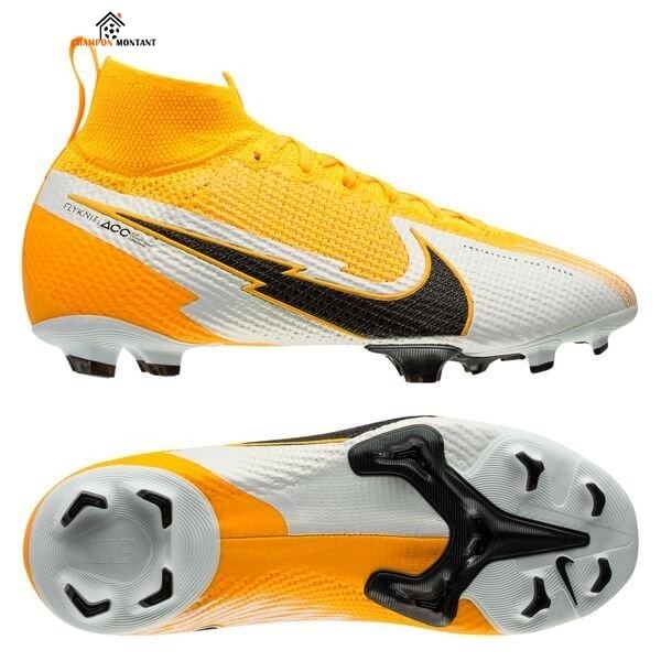 Nike Mercurial Superfly 7 Elite Enfant FG Daybreak Orange Noir Blanc